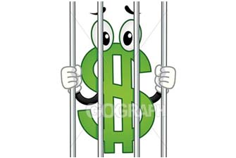 Caged cash banner